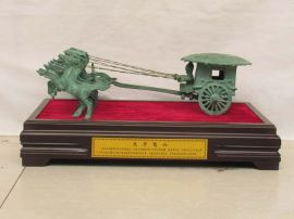 天子驾六 铜马拉车铜车马广发青铜器仿古工艺品古玩收藏商务礼品