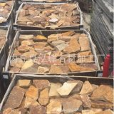 批量加工 黄金麻蘑菇石 山东黄金麻蘑菇石 米黄色花岗岩蘑菇石