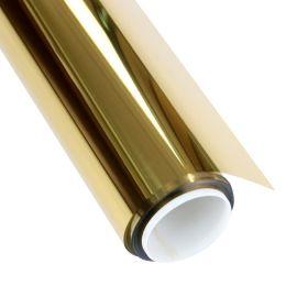 销售金色反光玻璃隔热膜居家办公室窗户玻璃贴膜