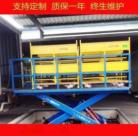 物流卸货平台,仓库运送货物升降平台,液压升降机,液压升降货梯