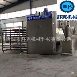 薰魚煙薰爐 200公斤煙薰爐設備 20層託盤薰魚設備