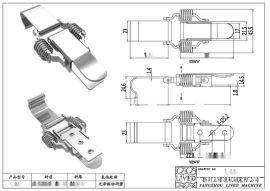 厂家**QF-417不锈**簧拉扣、外**食品箱S304不锈**簧箱扣