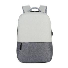厂家直销定制 电脑商务新款USB充电双肩背包  休闲大学生双肩背包