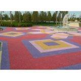 透水地坪胶结料代理加盟上海桓石彩色 透水地坪透水混凝土透水地坪图片