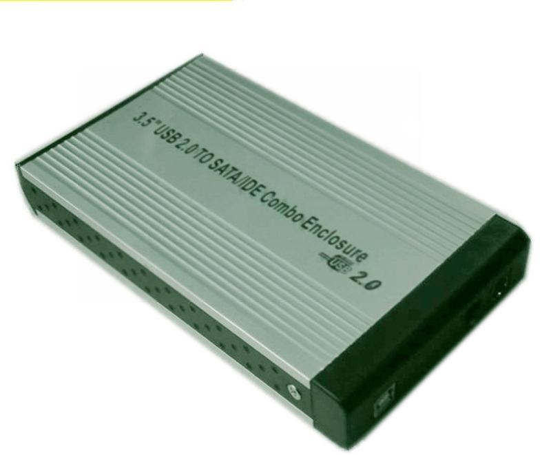 厂家直销3.5寸SATA IDE两用移动硬盘盒usb2.0外置铝合金硬盘盒子