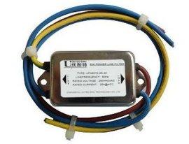 常州优耐特交流单相电源EMI抗干扰滤波器  低通共模单级LC滤波器 面板安装