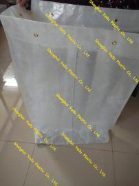PE透明编织袋 肩带 弹性织带生产线流转袋,四口灌装袋