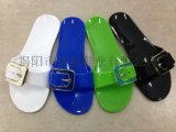 揭阳厂家直销女款时尚糖果色彩水晶拖鞋