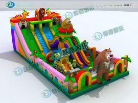 广场儿童游乐项目,充气儿童玩具,充气滑梯厂家
