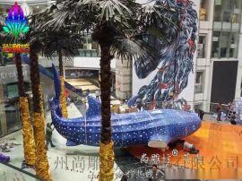 广州玻璃钢雕塑泡沫雕塑SDFL10M仿真鲸鱼造型  中庭DP小点装饰展览迎宾摆件