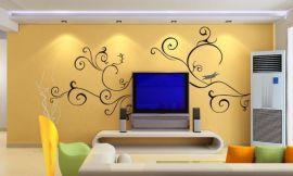 南京电视背景墙彩绘 家装沙发墙手绘墙绘9S