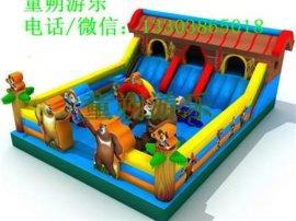适合多人一块儿玩的游乐设备充气城堡  喜羊羊充气城堡