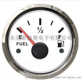 热销指针式油位表 油量表燃油表 12/24V船用车用房车工程车带灯光