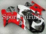 整流罩铃木GSXR6007502000 2001 2002 2003 ABS摩托车整流罩套件车身整流罩白红