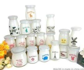 卡通布丁瓶 丝印 烤花玻璃瓶