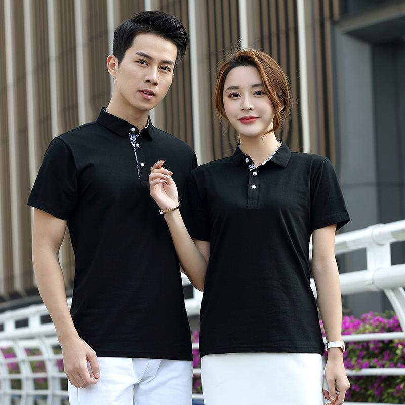 定做电信网络广告传媒公司工作服短袖T恤印logo外卖送餐员工装制t