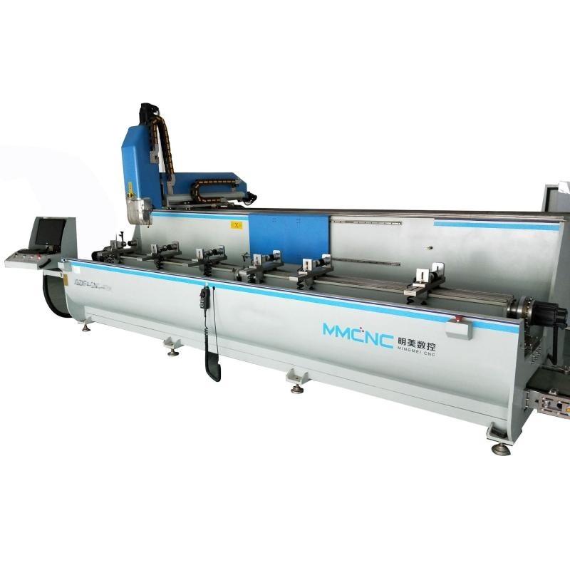 明美工业铝型材数控加工设备铝型材四轴数控加工中心支持定制