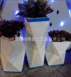 玻璃钢花盆办公酒店装饰园艺花器玻璃钢花箱花盆 组合