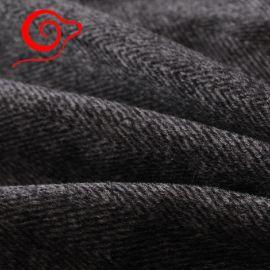 绵羊绒西装面料 纯羊毛高端人字呢 高端大衣西装羊绒面料