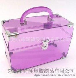 出口日韩 手提式 硬质高透明 首饰塑料收纳盒 SH-6421