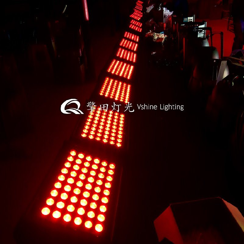 QT-WL354,54颗投光灯,方形投光灯,DMX投光灯,洗墙灯,户外灯,led投光灯,擎田灯光 双层投光灯,四合一双层投光灯