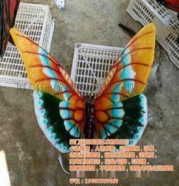 蝴蝶装饰雕塑,透明蝴蝶雕塑,发光蝴蝶雕塑