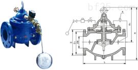 106X电磁遥控浮球阀 进口阀门 广州水力阀 浮球阀价格报价