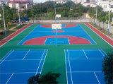 广西南宁丙烯酸篮球场地坪漆材料施工厂家 康奇体育