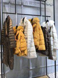 金韩羽绒服18冬品牌折扣女装走份广州石井哪有货源