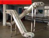 不鏽鋼斜坡升降機廠家供應盤錦市爬坡皮帶機提升擋板裙邊機