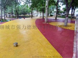 聊城彩色透水混凝土 透水膠結料的使用方法