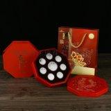 上海中秋节礼品促销纯银月饼图案设计直销厂家