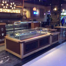 惠利HL5508咖啡色铁艺建德桐庐面包展示柜