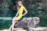 戀白女裝批發市場 瀋陽2017夏真絲大碼連衣裙品牌折扣女裝