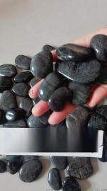 河北黑色鹅卵石厂家  黑色鹅卵石多少钱一吨