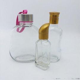 500ml水杯,100ml酒瓶,烤花丝网印刷加工玻璃瓶