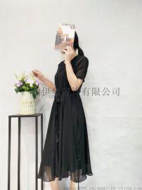 可可桑晨女装夏装连衣裙品牌折扣走份