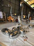 鏡面不鏽鋼火烈鳥雕塑、仙女造型動物雕塑閃亮效果