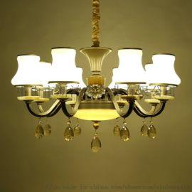荷塘月色花灯具 古典灯饰 美式大吊灯