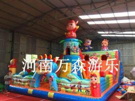 儿童充气城堡充气蹦蹦床款造型多样万森游乐均可定制