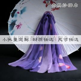 絲綢禮品真絲圍巾定製加工