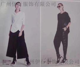 广州哪有红咖色品牌女装库存棉麻连衣裙折扣货源
