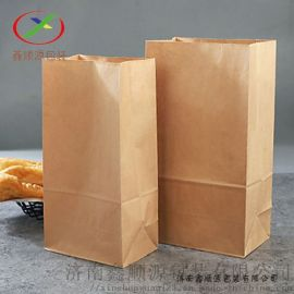 方底纸袋现货定制厂家批发直销牛皮纸袋