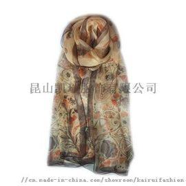 女式时尚丝绸围巾围脖
