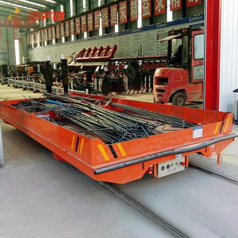 轉運電纜盤45噸轉彎軌道平板車 鉛包軌道車