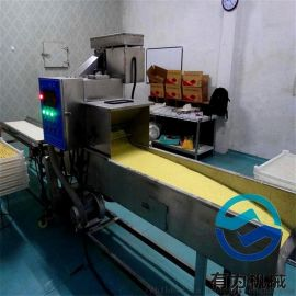 鸡肉条上糠机器 速冻雪花棒上糠机 雪花片设备
