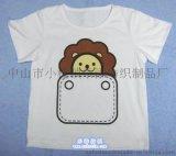 廠家直供訂製廣告純棉圓領短袖印花童裝T恤文化衫