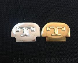 鞋帽箱包商标 高周波电压金银色TPU发泡 金属光泽立体商标