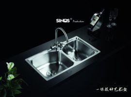 SINOS/赛诺思 C819 7843 水槽双槽 SUS304 洗菜盆 钢盆 手工槽 手工水槽