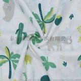 凱諾精梳純棉雙層印花紗布 嬰兒爬服口水巾紗布